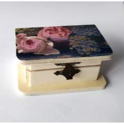 Cutiuta din lemn, cu lavanda 10x6x4.5 cm - model 5 MACF-230