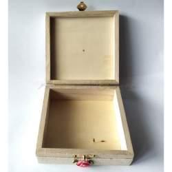 Cutiuta din lemn, cu lavanda 13,5x13,5x6 cm - model 11 MACF-237