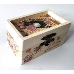 Cutiuta din lemn, cu lavanda 9x5,5x4,5 cm - model 8 MACF-234