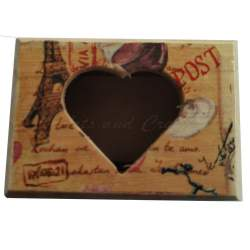 Cutiuta din lemn, inimioara, cu lavanda 8x5.5x4.5 cm - model 1 MACF-226