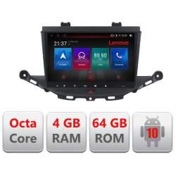 Navigatie dedicata Opel Astra K E-ASTRAK Octa Core cu Android Radio Bluetooth Internet GPS WIFI DSP 4+64GB 4G MEDO-KIT-ASTRAK+EDT-E509-PRO