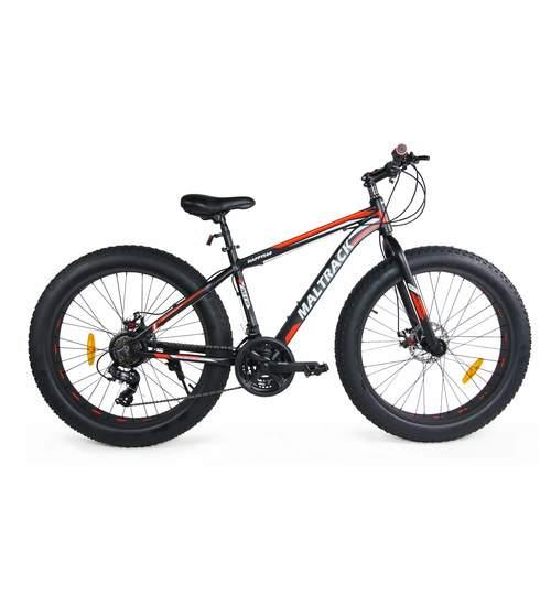 Bicicleta MalTrack Fat Bike cu 21 Viteze, Roti Late 26 Inch