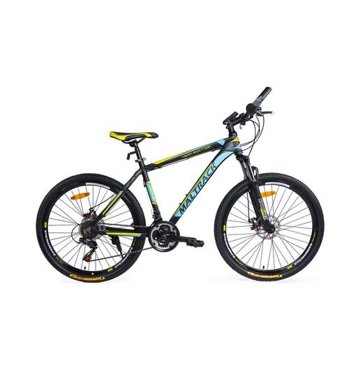 Bicicleta MTB MalTrack Team Alloy cu 18 Viteze, Roti 26 Inch, Mountain Bike