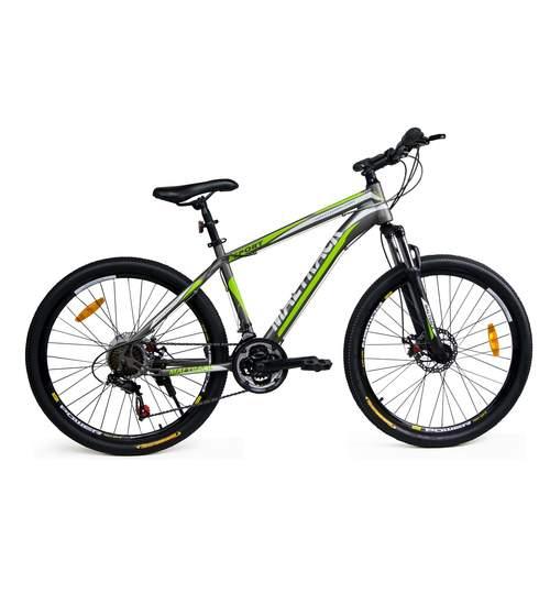 Bicicleta MTB MalTrack Sport Gray cu 21 Viteze, Roti 26 Inch, Mountain Bike