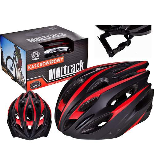 Casca Protectie Ciclism pentru Bicicleta cu 26 Orificii Ventilatie, Model Sporting Negru, Dimensiuni 55-59cm