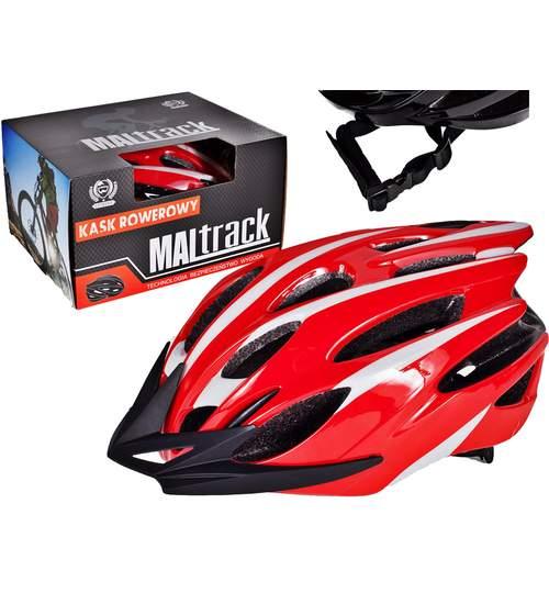 Casca Protectie Ciclism pentru Bicicleta cu 26 Orificii Ventilatie, Model Sporting Rosu, Dimensiuni 55-59cm