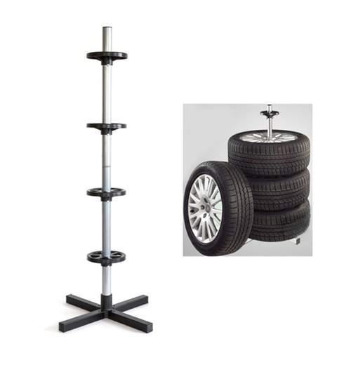 Suport Metalic pentru Depozitare 4 Roti, Jante, Anvelope Auto, Capacitate 100kg
