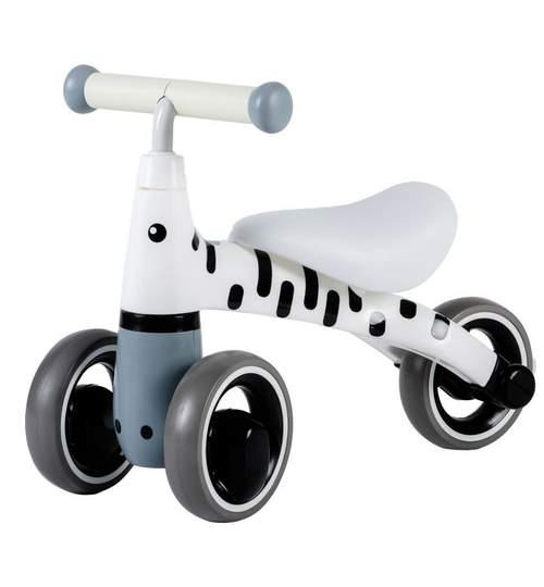 Tricicleta model Zebra, pentru copii, culoare alb