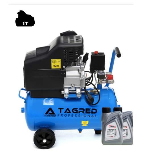 Compresor de Aer cu Ulei Tagred Mobil, 24L, 3.8 CP, 8 Bar, 206L/min +  ulei cadou