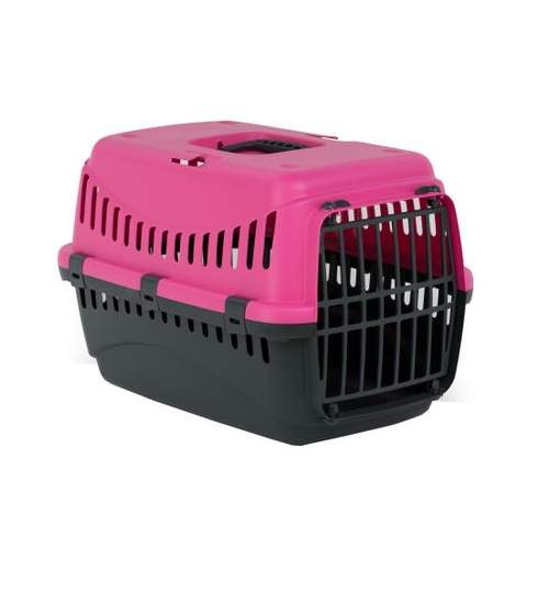 Cusca transport animale , Gipsy L , Plasitic  58X38X38 Pink Phanter Usa Metal Pet Star