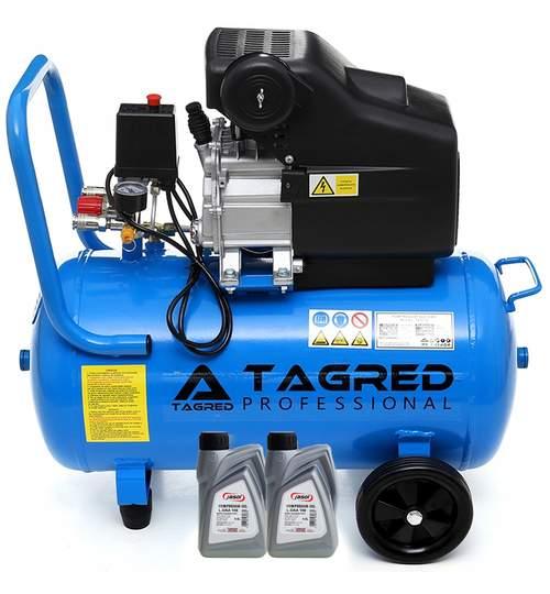 Compresor de aer cu ulei, rezervor 50l, 8bari, 3.8 CP, reductor de presiune incorporat + ulei