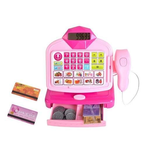 Set jucarie casa de marcat cu afisaj LCD si efecte sonore, scanner si accesorii
