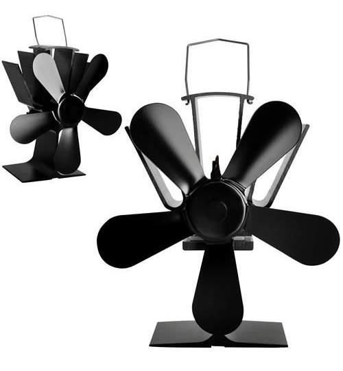 Ventilator Mecanic din Aluminiu pentru Semineu sau Soba cu 5 elice