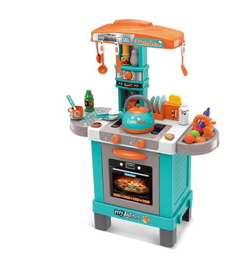 Bucatarie interactiva pentru copii, cu accesorii, 35 piese