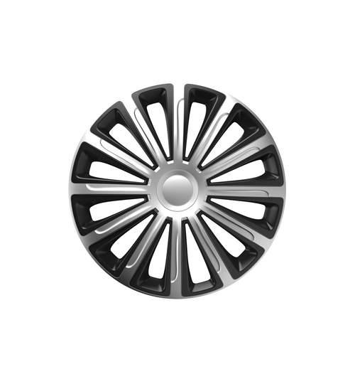 Set capace roti 15 inch, Trend, Argintiu cu Negru