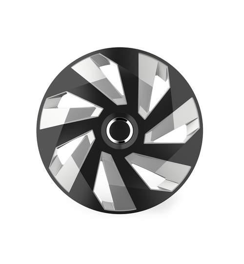 Set capace roti 15 inch, Vector RC, Argintiu si Negru