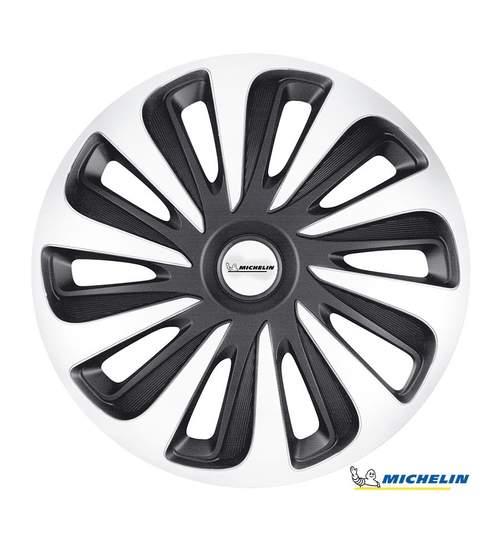 Set capace roti 16 inch, Michelin Caliber, Argintiu si Negru