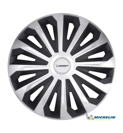 Set capace roti 16 inch, Michelin Cosmo, Argintiu si Negru
