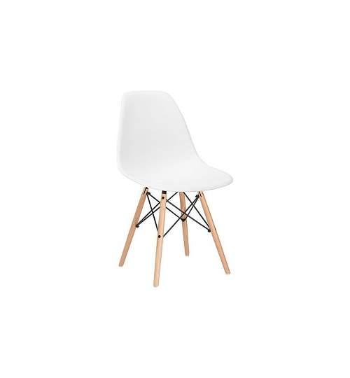 Scaun modern pentru living sau bucatarie Milano, 120kg, alb