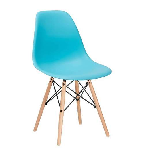 Set 4 scaune moderne pentru living sau bucatarie Milano, 120kg, albastru, set 4 bucati