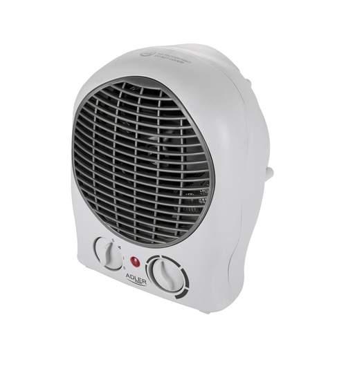 Aeroterma electrica cu ventilator Adler, 2000W, protectie la supraincalzire, culoare gri/negru