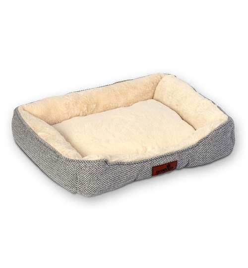 Pat Culcus Confortabil pentru Caini sau Pisici, 61x50 cm, Gri