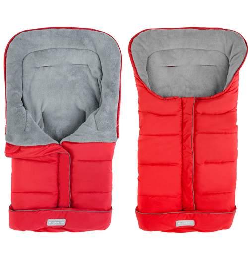 Sac de Dormit Impermeabil Universal pentru Carucior Copii, 96 x 45 cm, rosu