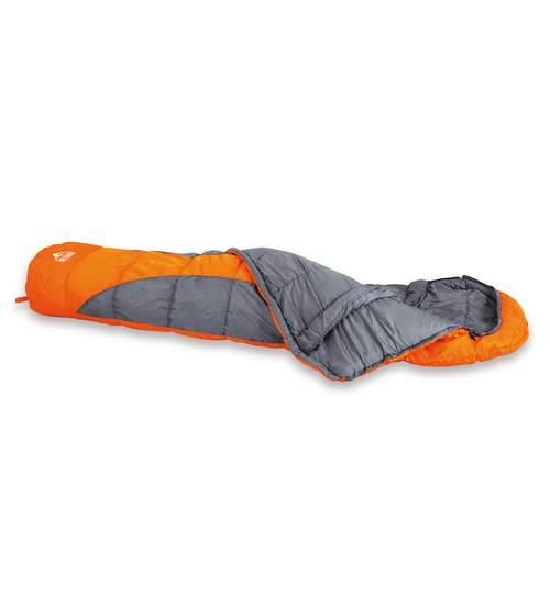 Sac de Dormit tip Mumie cu Gluga pentru Camping si Drumetii, 230cm, Culoare Portocaliu
