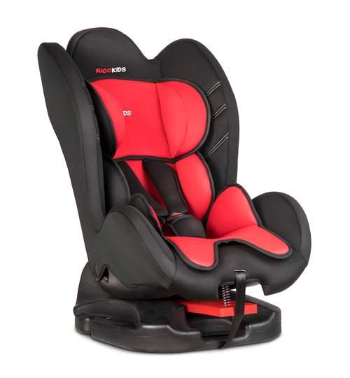 Scaun Auto pentru Copii, 0-25kg, Isofix, Protectie laterala, Inaltime si Spatar Reglabil, Rosu