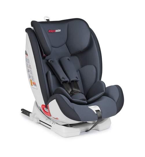 Scaun Auto pentru Copii, 9-36kg, Isofix, Protectie laterala, Inaltime si Spatar Reglabil, Gri