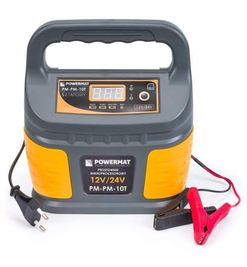 Redresor baterie Powermat PM-PM-10T, 12 / 24V, 10A, 5 etape de incarcare