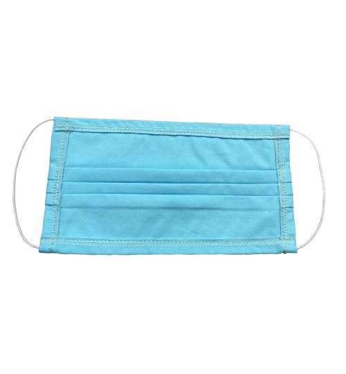 Masca protectie faciala reutilizabila din bumbac pentru filtrare aer, culoare albastru