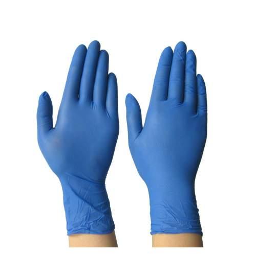 Manusi din Nitril de Unica Folosinta, Marime S, Culoare Albastru, Cutie 100 buc