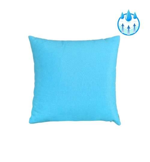 Perna decorativa  pentru balansoar sau sezlong, material impermeabil, 40x40cm, culoare albastru