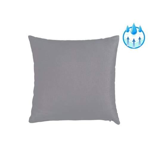 Perna decorativa pentru balansoar sau sezlong, material impermeabil, 40x40 cm, culoare gri