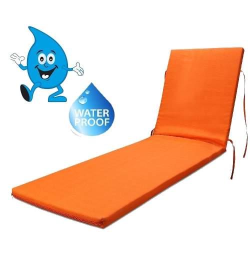 Saltea impermeabila pentru sezlong, 185x55x4 cm, culoare orange