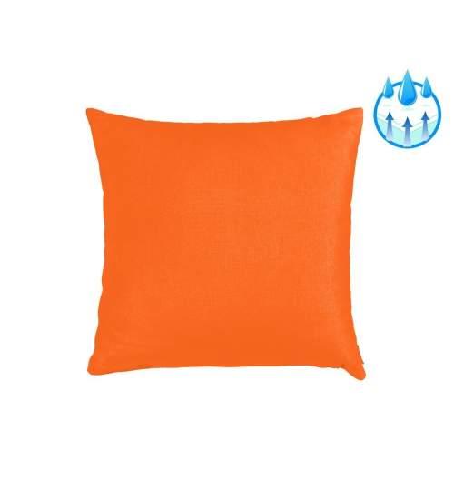 Perna decorativa pentru balansoar sau sezlong, material impermeabil, 40x40 cm, culoare orange
