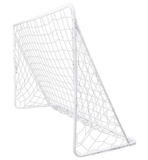 Poarta de fotbal din metal pentru copii, cu plasa, 240x150x90cm
