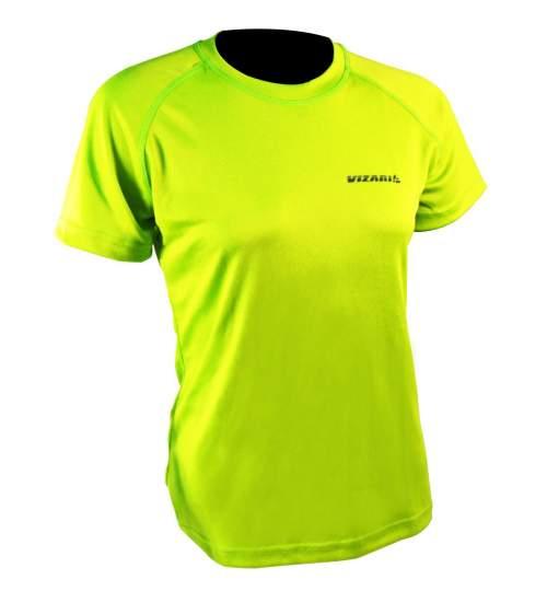 Tricou de Dama Vizari pentru Jogging sau Fitness, marimea S, culoare Galben