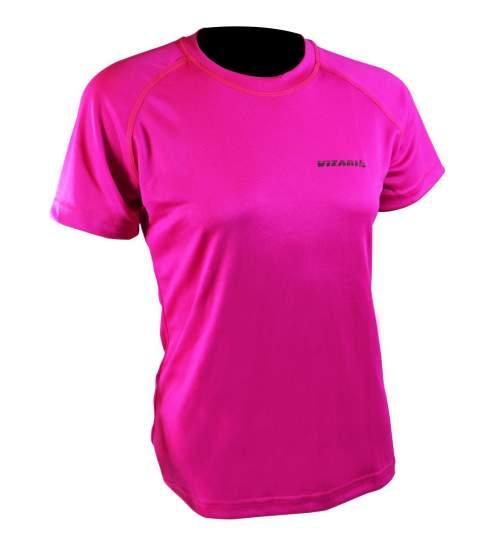 Tricou de Dama Vizari pentru Jogging sau Fitness, marimea S, culoare Roz