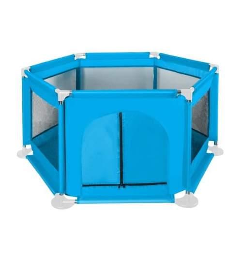 Spatiu de joaca tarc pentru copii tip piscina, pliabil, dimensiune 115x65 cm, culoare Albastru deschis