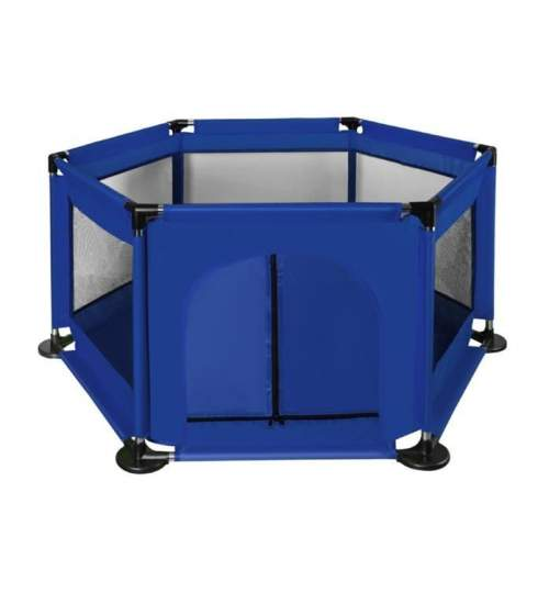Spatiu de joaca tarc pentru copii tip piscina, pliabil, dimensiune 115x65 cm, culoare Albastru inchis