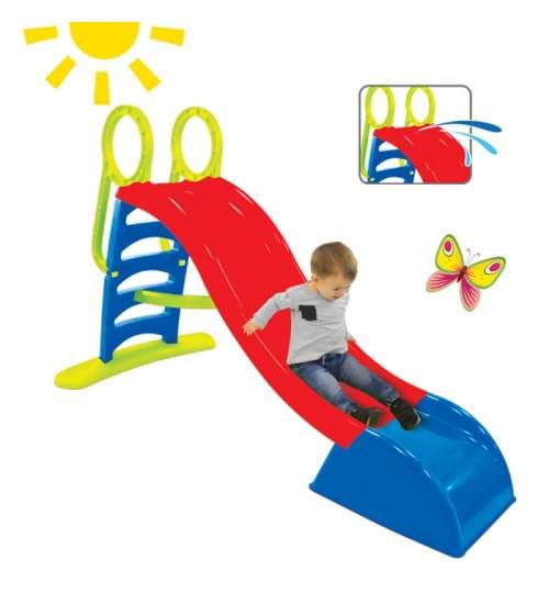 Tobogan de Gradina XXL pentru Copii, cu Scara si Functie pentru Conectare Furtun de Apa, 180cm, Rosu