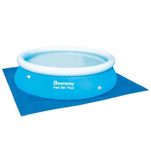 Covor de protectie Bestway pentru piscina, dimensiune 3.35x3.35m, albastru