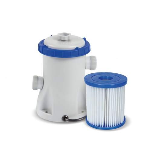 Pompa Recirculare cu Filtru Bestway 58381, pentru Filtrare Apa Piscina, Debit 1249L/H