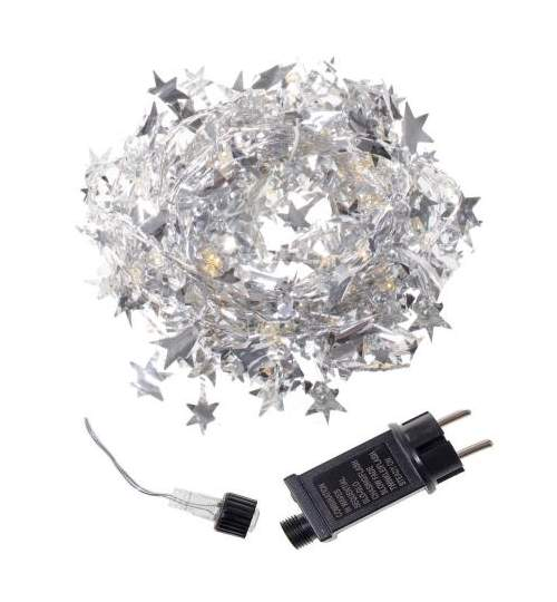 Instalatie decorativa LED de Craciun, cu 8 functii, 120 led-uri stelute, lumina calda, 2m, 220V
