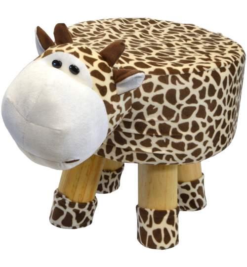 Scaun taburet pentru copii, model Girafa, 50kg, 28x28cm