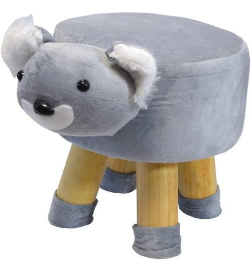 Scaun taburet pentru copii, model Urs Koala, 50kg, 28x28cm