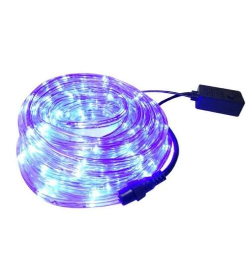 Instalatie Tip Furtun Luminos LED pentru Craciun, Lumina Albastra, Exterior Interior, Lungime 20m, 480 LED-uri