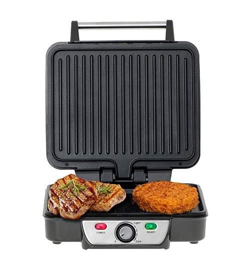 Gratar Grill electric Mesko 3050, cu functie 180 grade, reglare temperatura, 2500W